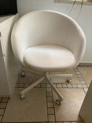 Schreibtisch - Sessel- Stuhl weiß