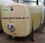 P81 gebrauchter 6000L Polyestertank GFK