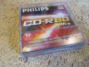 10 Disc Philips CD-R80 16x