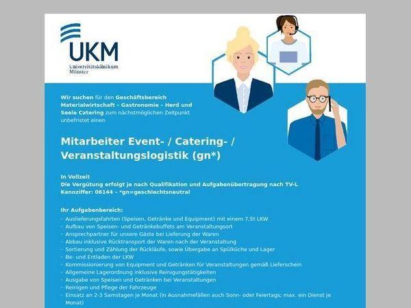 Mitarbeiter Event- Catering- Veranstaltungslogistik m