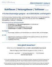 Stahlbauer Heizungsbauer Schlosser m w