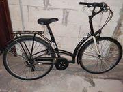 Elops 300 City Bike - Schwarz