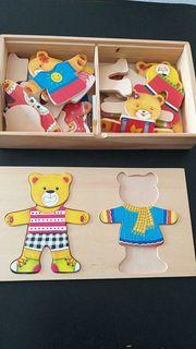 Holzspielzeug für Kinder in einer