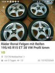Kompletträder Ronal 195 45 R15