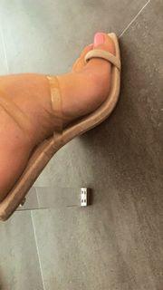 verkaufe Fuß Bilder getragene Socken