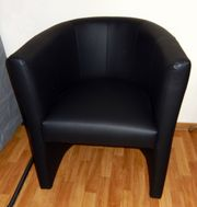 neuwertiger Sessel schwarz