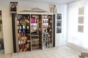 Ladeneinrichtung Verkaufsregal Warenschrank Friseurladen Spiegel