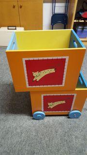 Stapelbare Holz-Spielzeugkiste