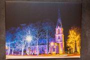 Wandbild Wallenhorster Kirche bei Nacht