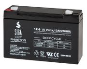 SIGA Akku 12Ah 6V Batterie