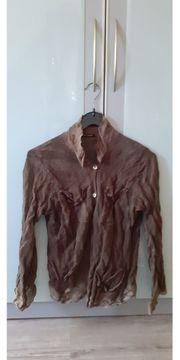 Transparente braune Bluse von Luisa