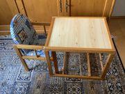 Kindertisch mit Stuhl aus Holz