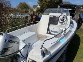 motorboot Kajütboot Ryds 485 -30PS Viertakt Honda-Straßentrailer