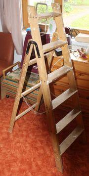 6 stufige Holzbockleiter voll funktionstüchtig