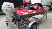 speedboot miniflitzer mit suzuki 15