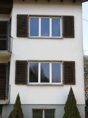 Holz-Aluminiumfenster Läden Einfamilienhaus