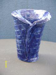 Blumenvase 2 Blaue Blumenvase mit