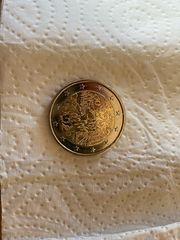 Einzigartige 2 Euro Münze Fehlprägung