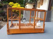 Verschenke alten Holzvogelkäfig