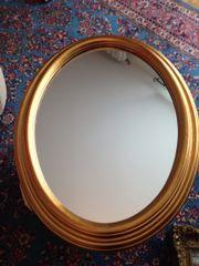Spiegel oval 81x61cm mit goldfarbenem