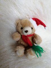 Kuscheltier Stofftier - kleiner Weihnachtsteddy