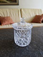Schöne alte Glas Deckeldose