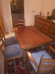 Esstisch mit 6 Stühlen rustikal