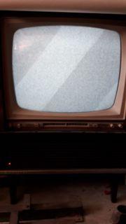 Phillips Fernseher Leonardo Truhe antik
