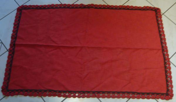 Tischdecke rot 70 cm x