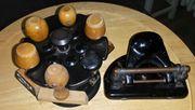 Antiker Stempelhalter mit 6 Stempel