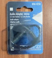 Audio-Adapter stereo 2 55mm Stecker