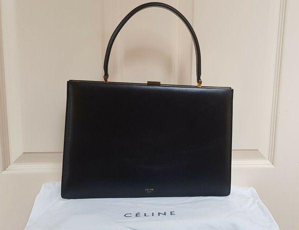 Celine Clasp Top Griff Tasche