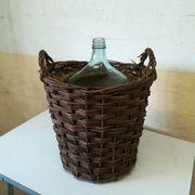 Original antike Korbflasche