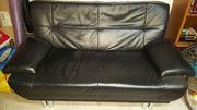 Schwarze Leder Couch 2 Sitzer