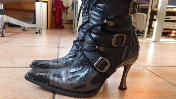 New Rock Stiefel Malicia Flame Schwarz Grau Größe 38 65 Euro