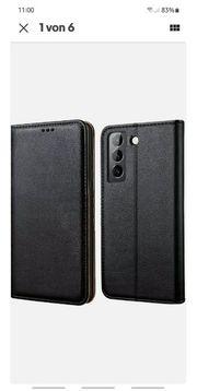 Neu Leder-Flipcase für Samsung Galaxy
