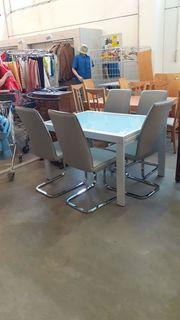Esstisch mit 5 Stühlen 120x90x74