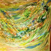 Selbst gemaltes Aquarellbild 40 x