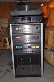 Stereoanlage Turm mit Rack Kasette