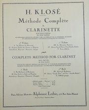 Methode Complete de Clarinette