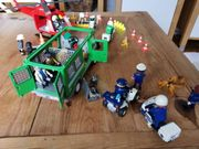 Playmobil Polizeibus Rettungshubschrauber mit Zubehör