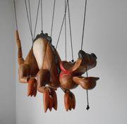 Drache aus Holz Marionette Deko