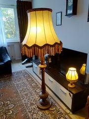 2 Alte Standleuchte Stehlampe Holz