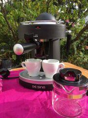 schwarze De Sina Espressomaschine