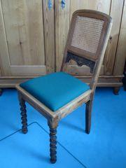 Antiker Stuhl Klassischer Stuhl Eichenholz-Gewebestuhl