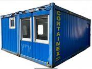Doppelcontainer Baustellen Büro Garten Hühner