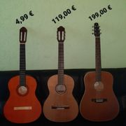 Verschiedene Gitarren