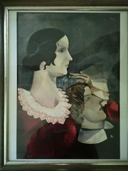 Kunstdruck Chagall GREY LOVERS 1907-1917