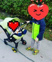 Fahrbare Babyschale Donna Grüne Farbe