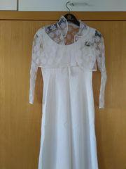 Hochzeitskleid mit Spitzen-Bolero Gr 36